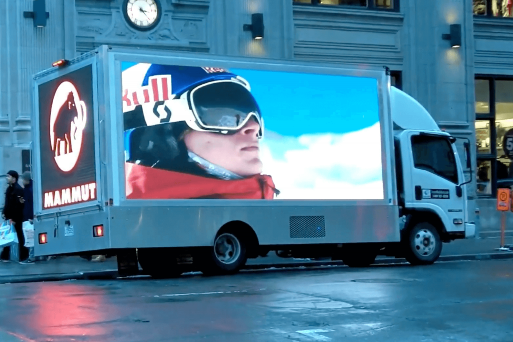 Mobile LED Video Ad Truck – Outdoor Media Works