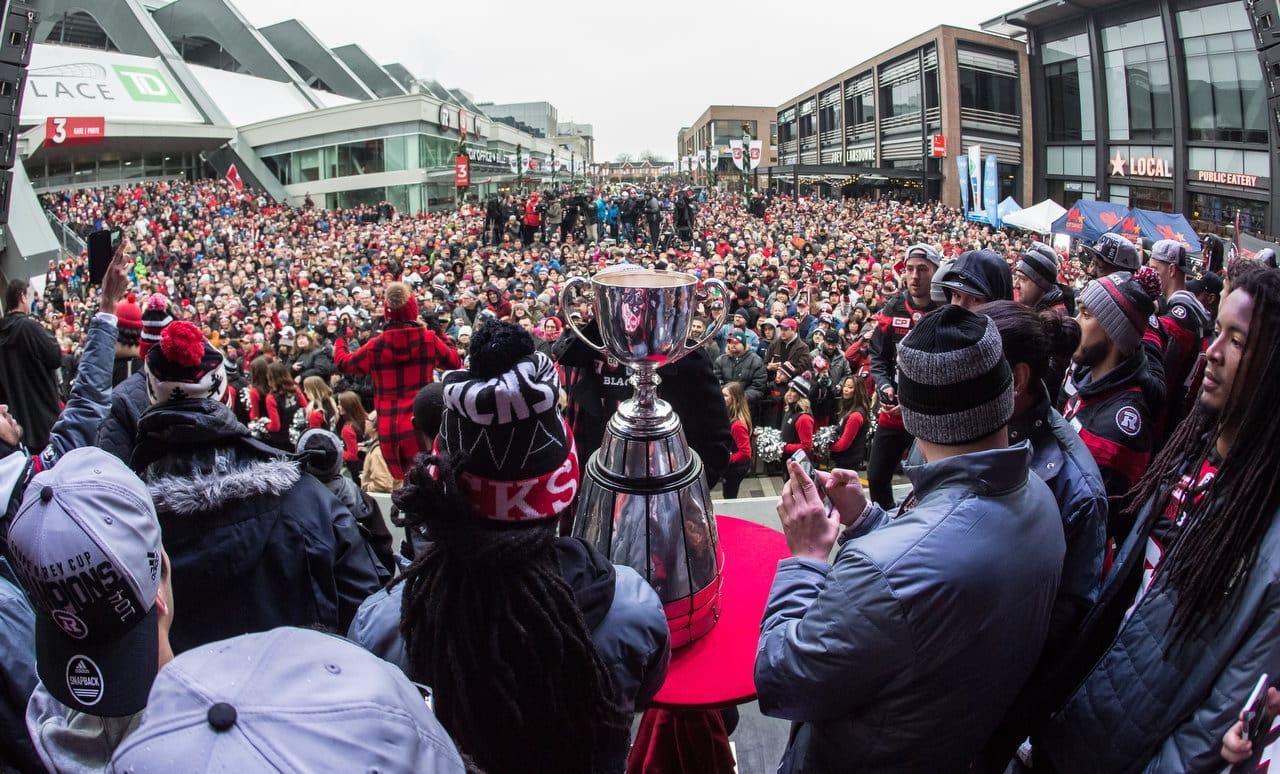 Ottawa REDBLACKS Grey Cup Parade November 29, 2016