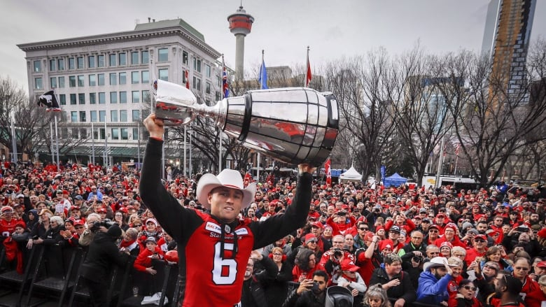 grey cup event with fans in crowd