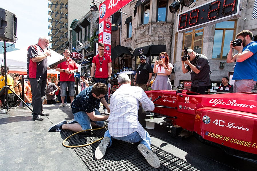 Activity at the Montreal F1 Grand Prix Event on Crescent Street