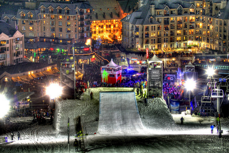 World Ski & Snowboard Festival at Night