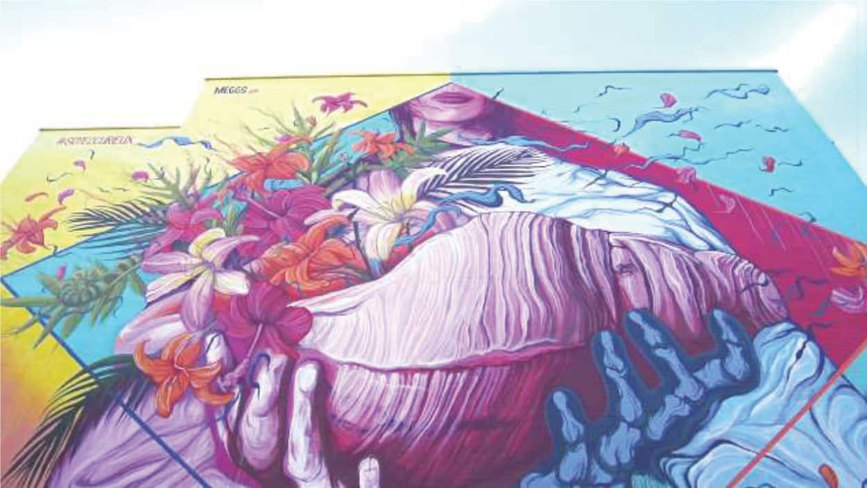 Mural Example at the MURAL Public Art Festival of Montreal
