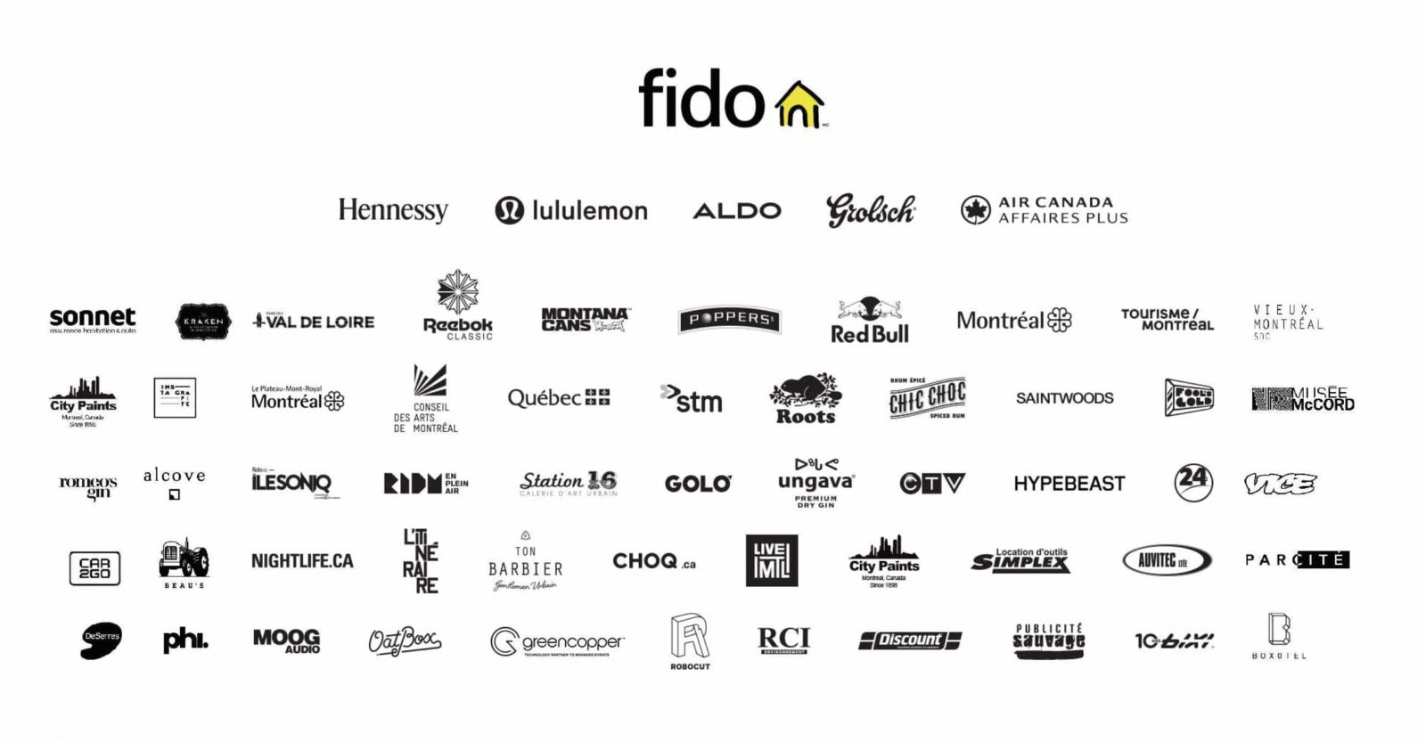 Sponsors for the MURAL Public Art Festival of Montreal